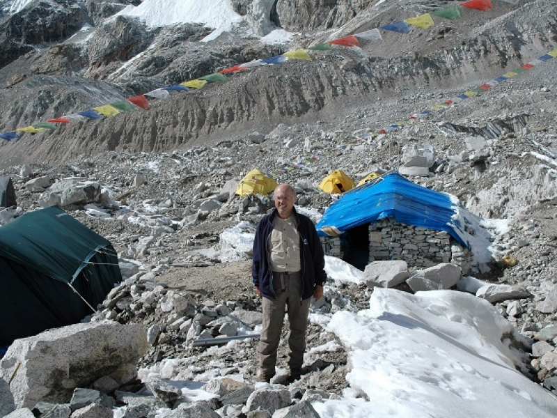 Népal : Camp de base de l'Everest sur Khumbu Glacier (2006)